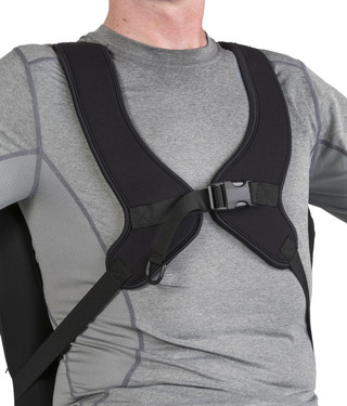 Adjustable Stretch, Center-Opening Anterior Trunk Support